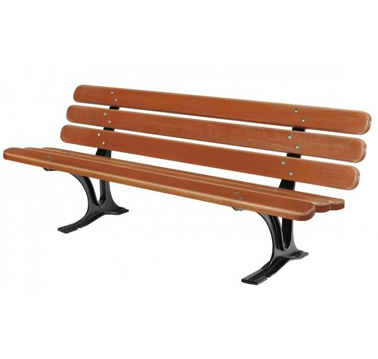 Banc urbain seville banc public en bois mobilier urbain banc urbain - Mobilier urbain banc bois ...