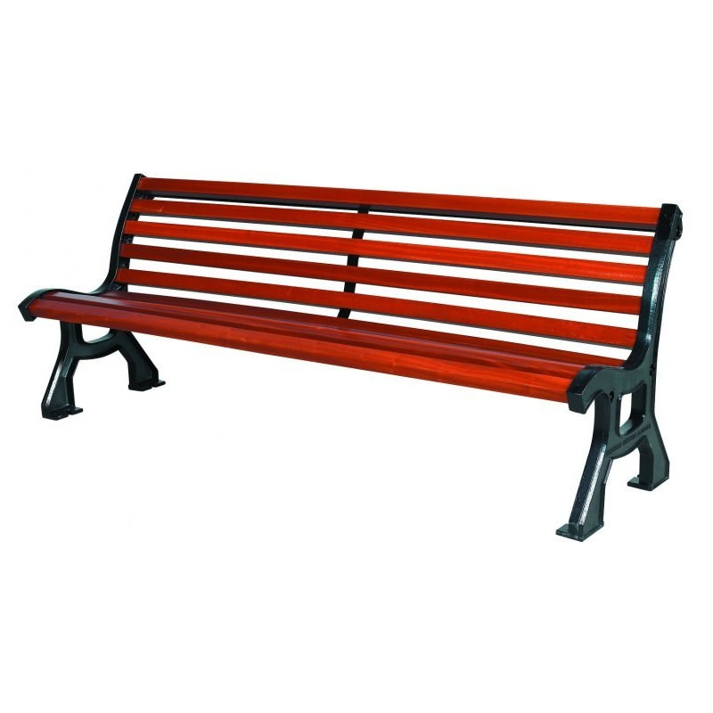 Banc public en bois bastide achat de mobilier urbain banc public pas cher - Mobilier urbain banc bois ...