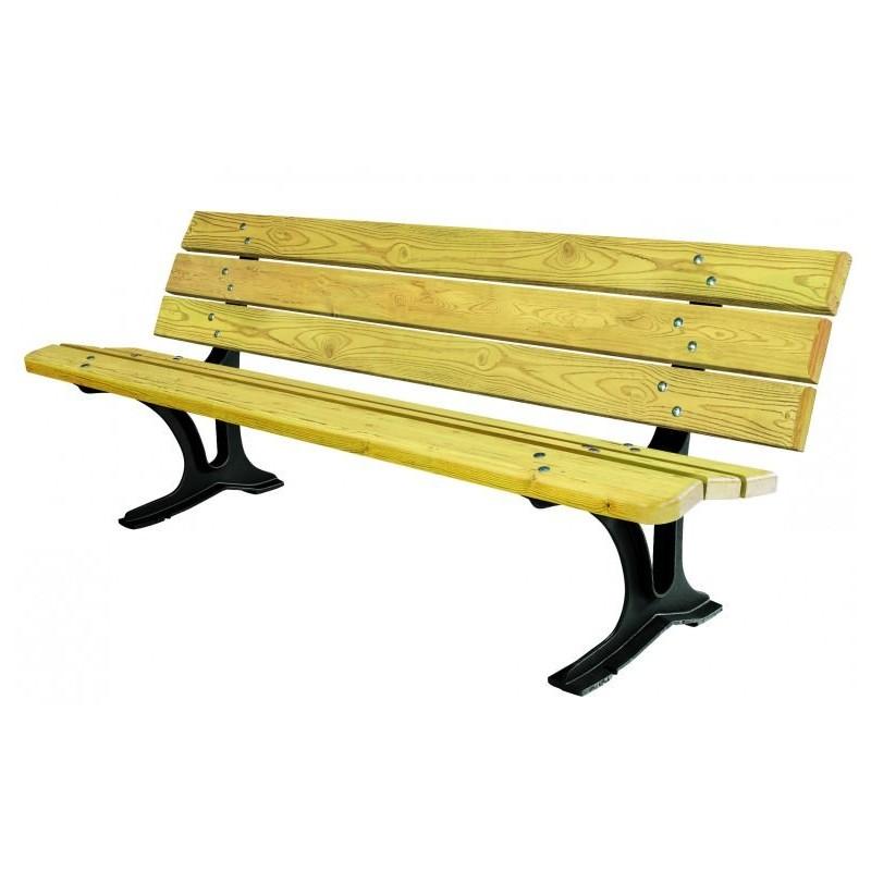 Mobilier urbain banc en bois et fonte banc public en bois cologne - Mobilier urbain banc bois ...