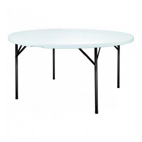 Table ronde pliante en plastique polyéthylène