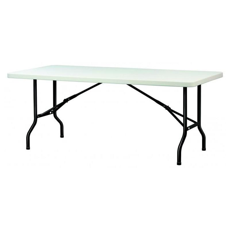 table en polypropyl ne pliante grise table en polypropyl ne pliante rectangulaire table polypro. Black Bedroom Furniture Sets. Home Design Ideas