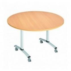 Table ronde basculante pour collectivités