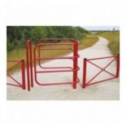 Barrière fixe sélective pour chemin rural