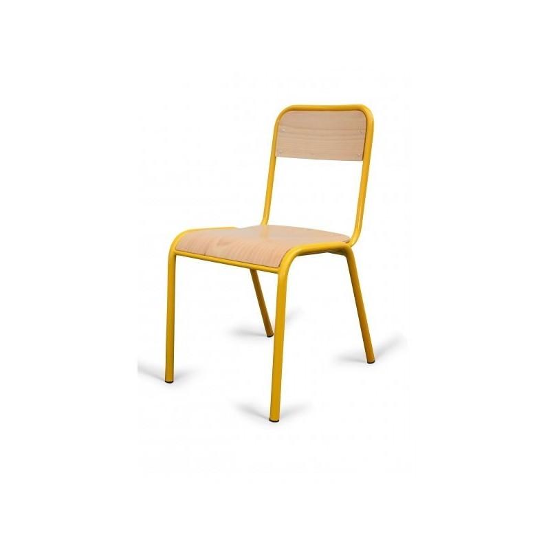 chaise d 39 colier en bois et m tal chaise pour cole maternelle ou primaire. Black Bedroom Furniture Sets. Home Design Ideas