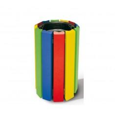 Poubelle d'école Cologne multicolore