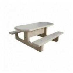 Table de picnic en béton octogonale