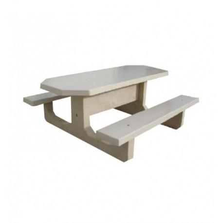 Table de pique-nique en béton octogonale