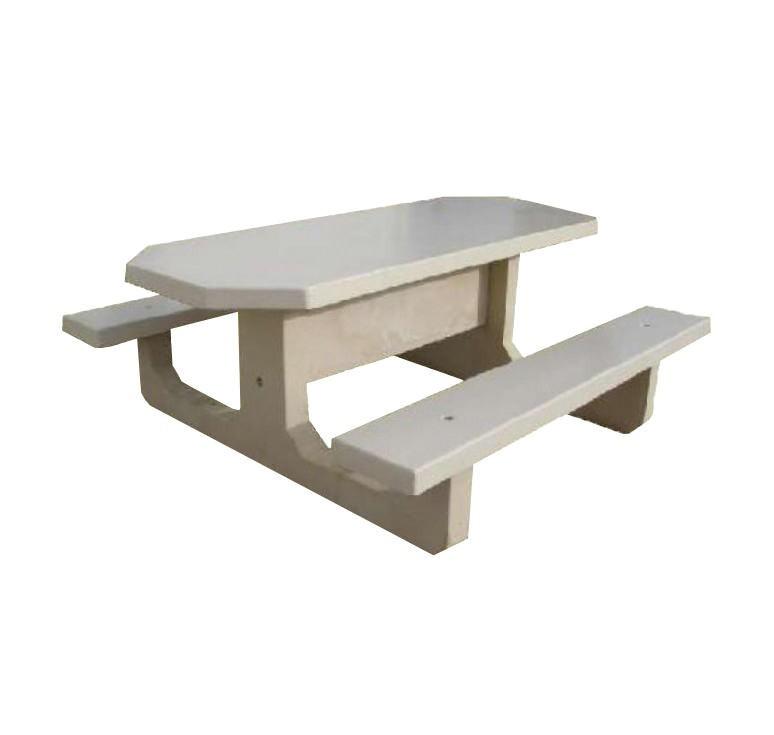 table pique nique en b ton octogonale fournisseur de. Black Bedroom Furniture Sets. Home Design Ideas