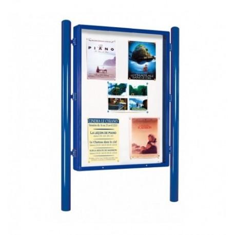 Panneau d'affichage pour exposition libre
