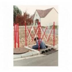 Barrière extensible pour chantier