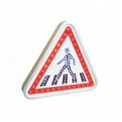 Panneau de signalisation de présence de passage piéton à LEDs