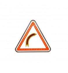Panneau virage dangereux A1A à LED
