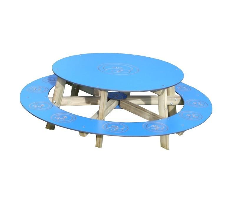 Table de pique nique ronde enfant mobilier urbain - Table pique nique enfants ...