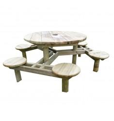 Table pique-nique en bois Modèle Forest