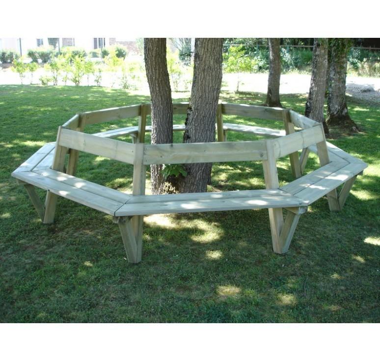 banquette d 39 entourage d 39 arbre banc public en bois mobilier urbain leader equipements. Black Bedroom Furniture Sets. Home Design Ideas