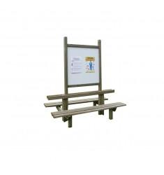 Tableau d'affichage extérieur avec bancs intégrés
