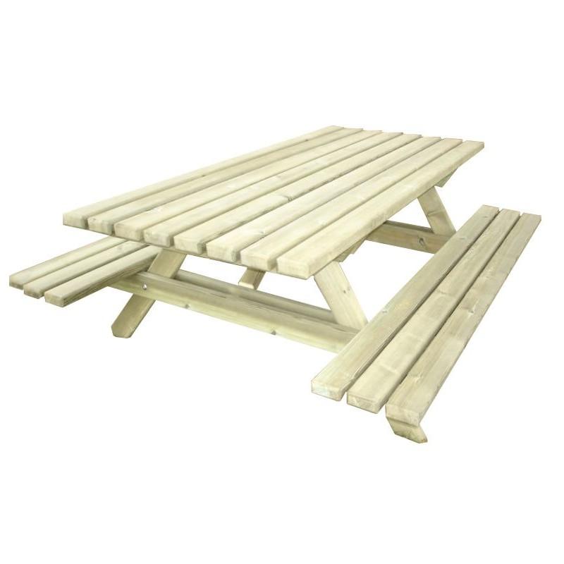 table de pique nique en bois massif table de pique nique pour camping. Black Bedroom Furniture Sets. Home Design Ideas