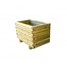 Jardinière en bois rectangulaire