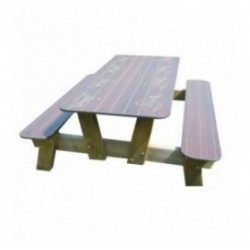 Table de picnic en compact