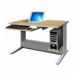 Poste et bureau informatique scolaire semi encastré