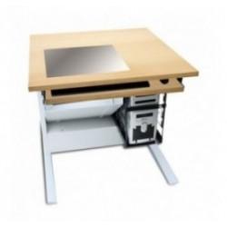 Poste et bureau informatique scolaire encastré