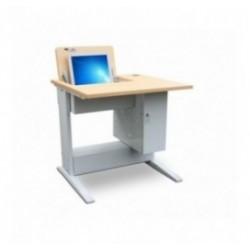 Poste et bureau informatique scolaire escamotable