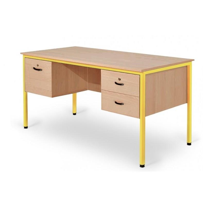 bureau professeur avec caissons bureau professeur en m tal et m lamin leader equipements. Black Bedroom Furniture Sets. Home Design Ideas