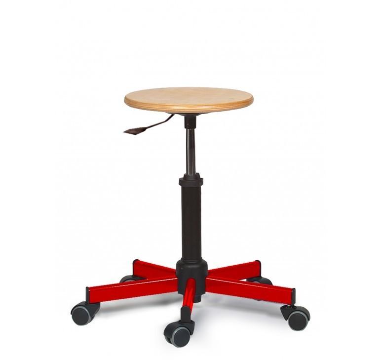 Tabouret informatique nina avec roulettes leader equipements for Table exterieure a roulettes