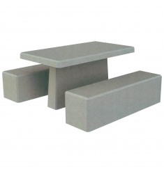 Table de pique-nique en béton Triton