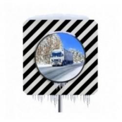 Miroir routier carré