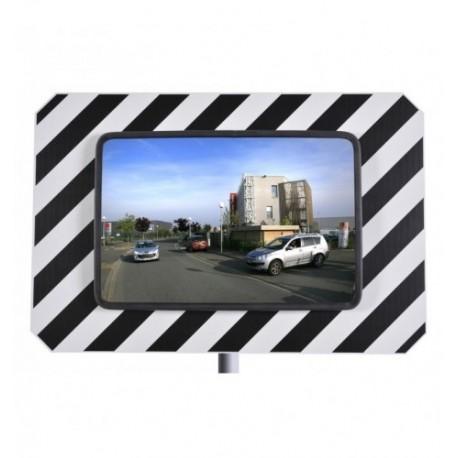 Miroir urbain de sécurité rectangulaire