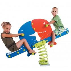 Aménagez l'aire de jeux avec notre jeu sur ressort requins