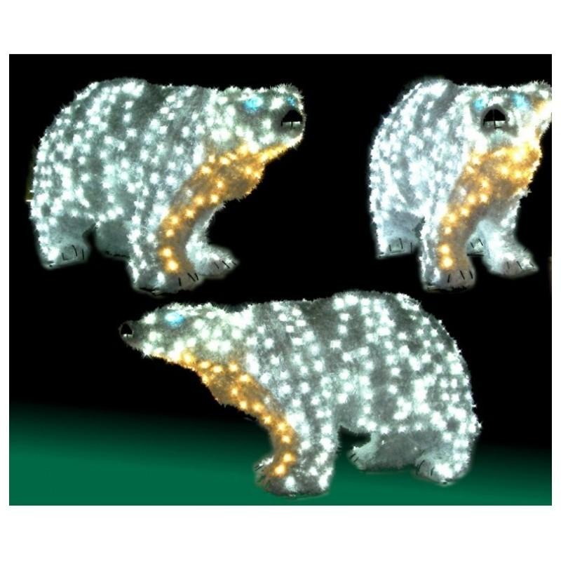 Ours lumineux de no l pour collectivit ours de no l lumineux 3d for Spot lumineux pour noel