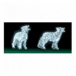 Décoration et illumination de Noël : loup lumineux en 3D