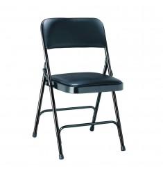 Chaise pliante tissu ou vinyle Palerme