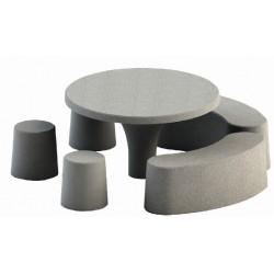 Table pique nique ronde en béton