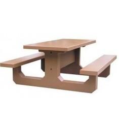 Table de pique-nique en béton Conviviale