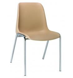 Chaise empilable à coque Hélène