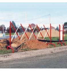 Barrière extensible en acier