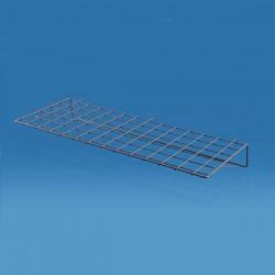 Tablette horizontale grise pour grille d'exposition
