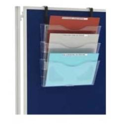 Corbeilles et présentoirs pour grilles d'exposition