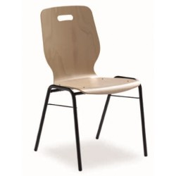 Chaise empilable à assise bois Fidji
