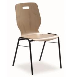 Chaise empilable à coque bois Fidji