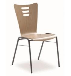 Chaise empilable à coque bois Palao