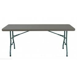 Table pliante en polypro plateau marron