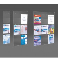 Porte affiches en plexiglass transparent