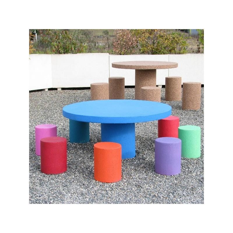table pique nique pour enfants mobilier en b ton. Black Bedroom Furniture Sets. Home Design Ideas