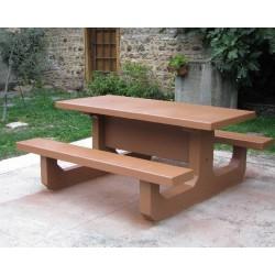Table de picnic en béton Conviviale