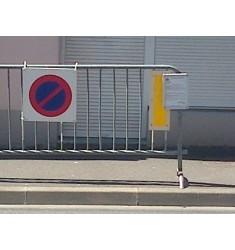 Affichage pour barrières de police