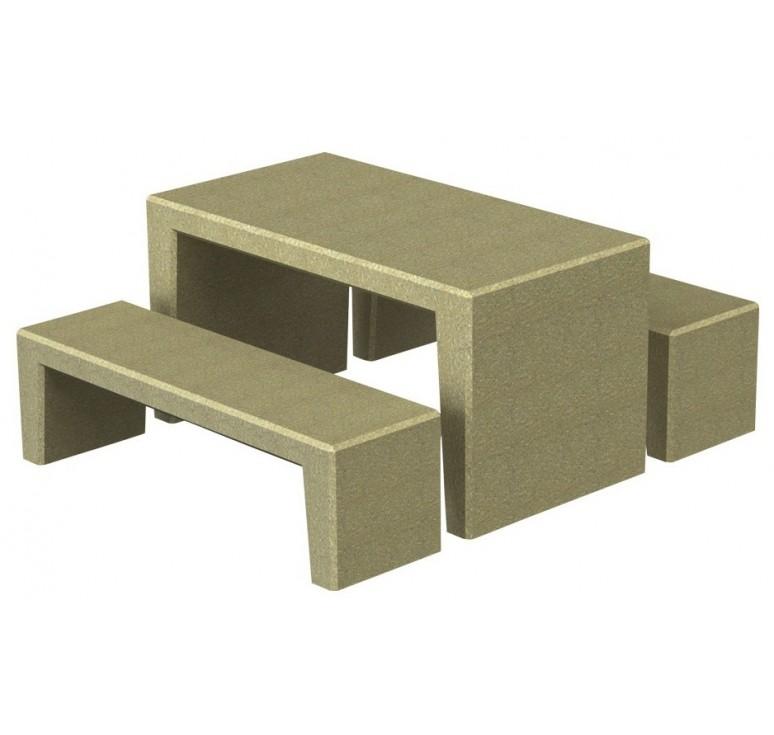mobilier ext rieur en b ton table de pique nique en. Black Bedroom Furniture Sets. Home Design Ideas
